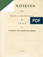 Carrera Jose Miguel - Manifiesto Que Hace a Los Pueblos de Chile