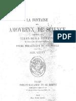 De La Fontaine J La Fontaine Des Amourex de Science
