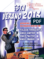 Cartel Fiesta Verano 2013