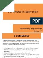 E-Commerce in Supply Chain