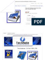 Tela Led 14 Notebook Emachines D442-V081 D728-4455 4693 4862 - R$ 199,90 No MercadoLivre