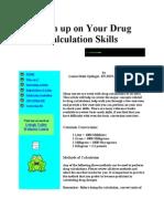 Brush Up on Your Drug Calculation Skills
