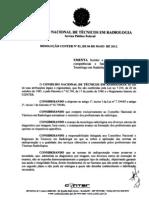 Resolução CONTER Nº 02, de 04 Maio 12 - Função do Tecnólogo