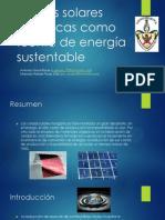 Celdas solares orgánicas como fuente de energía sustentable