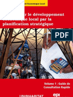 Promouvoir Le Developpement Economique Local Par La Planification Strategique Volume 1