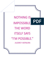 I'm Possible Quote 8x10 Printable