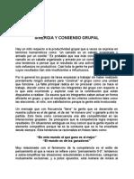Sinergia y Consenso Grupal