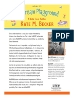 My Dream Playground - A Note From Author Kate M. Becker