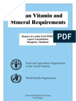 Human Vitamin and Mineral Requirements