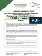 Cannabis-Based Medicinal Extract Sprays
