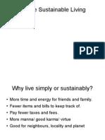 Simple Sustainable Living- Summary