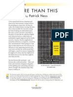 More Than This by Patrick Ness - Discussion Guide