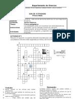 Crucigrama El Atomo (Guia de Quimica) Prueba Tabla Periodica