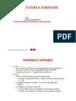 Stringhe e Caratteri c++