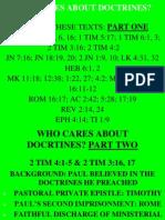 ...Jesus Not Doctrines...