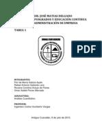 Tarea 1 Analisis Cuantitativo Flor Galicia- Carolina Araujo- Omar Flores- Rafel Gallardo