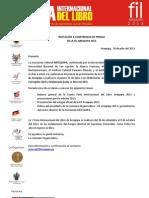 Invitación a conferencia de prensa de lanzamiento - FIL Arequipa 2013