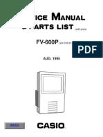 Casio Fv600p Lcd Tv Sm