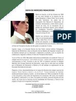 Biografia de Mercedes Indacochea