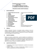 Syllabus Del Curso Analisis de Casos Constitucionales Julio 2013