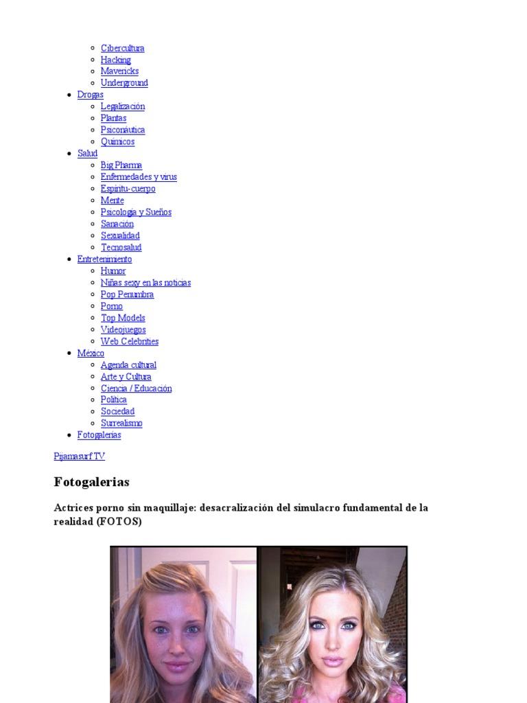 Actrices Porno Y Enfermedad actrices porno sin maquillaje_ desacralización del simulacro
