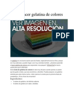 Cómo hacer gelatina de colores
