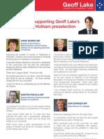 Geoff Lake - Local Leaders