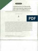 El papel de la comunicación en el desarrollo de los procesos de concertación