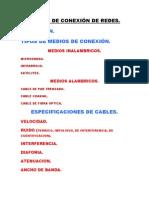 MEDIOS DE CONEXIÓN DE REDES