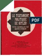 Hitler Adolf - Le Testament Politique d'Hitler.pdf
