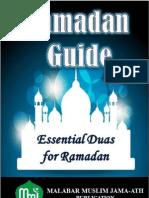 MMJ Ramadan Booklet 2013