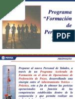 Programa Para Personal de Taladro