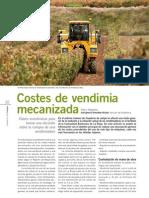 Costes de vendimia mecanizada españa