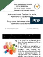 Instrumentos de Evaluación en la Adherencia la tratamiento-Prof.Gloria