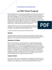 Guidelines on PhD Thesis Proposal