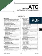2003 Nissan Altima 2.5 Serivce Manual Atc