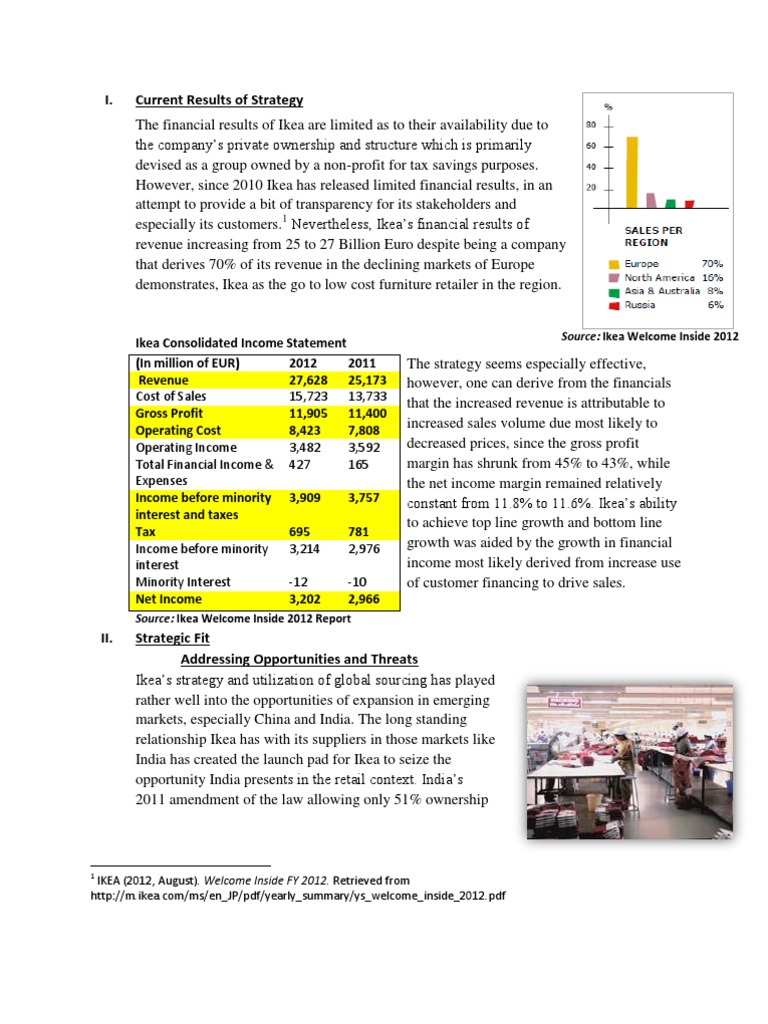 ikea financial report Ikea presents itself as a green company a group of senators breathes life back into the bowles-simpson budget report next in economic and financial.