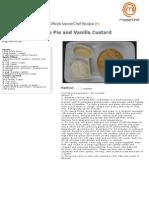 Apple Pie and Vanilla Custard