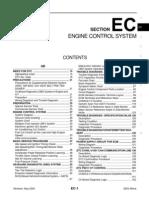 2003 Nissan Altima 2.5 Serivce Manual EC