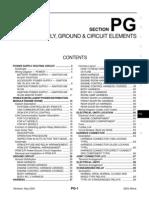 2003 Nissan Altima 2.5 Serivce Manual PG