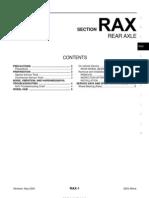 2003 Nissan Altima 2.5 Serivce Manual RAX