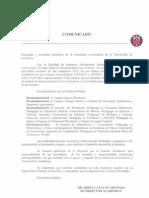 Comunicado Vicerrectoria Academica