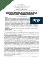 Vidal-Kopmann - Segregación residencial y apropiación del espacio