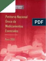 Petitorio Nacional Medicamewntos Esenciales 2010