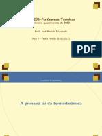 Aula 4 - Primeira Lei da Termodinâmica