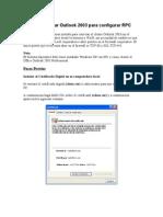 Como Configurar Outlook 2003 Para Configurar RPC