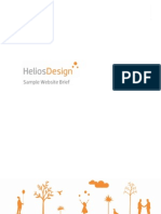 HeliosDesign Sample Website Brief