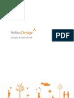 HeliosDesign Sample Website Brief