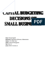 The Capital Budgeting Decisions of Small Businesses