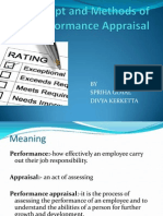 Concepts and Methods of Performance Appraisal